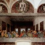 LEONARDO DA VINCI (1452-1519) 'The Last Supper', 1494-98 (tempera on gesso, pitch and mastic)  (Click on the flip icon to view)