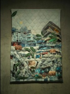 Quilt from installation Vaila K'vaila (Time Un-timed)(2015)
