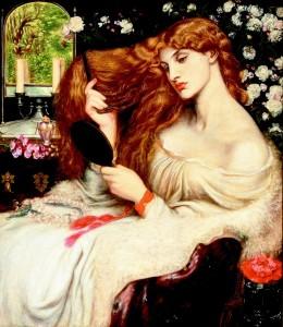 Dante Gabriel Rossetti, Lady Lilith. 1866-68. Oil on canvas. Image courtesy of Delaware Art Museum