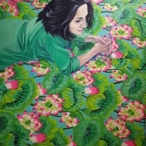 Saqiba Suleman, Untitled, Oil & Acryic on Canvas - ArtRooms Fair