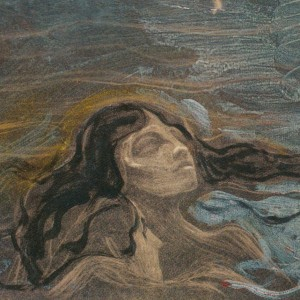 Edvard Munch - On the Waves of Love 1896 Lithograph