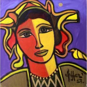 Wahab Jaffar, 18 x 18 Inch, Acrylic on Canvas, Figurative Painting, AC-WJF-010-1100x1100